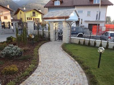 Vendita cubetti o selciato per pavimenti da esterno in sanpietrini - Vialetti giardino in porfido ...